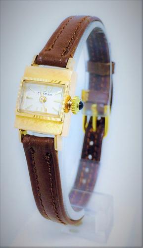 reloj suizo de oro sólido 18k, para mujer eterna