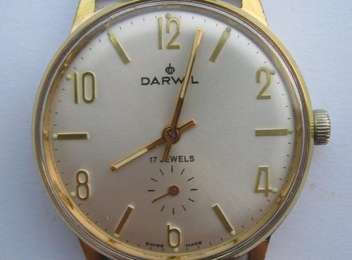 reloj suizo mecánico  darwil 1987