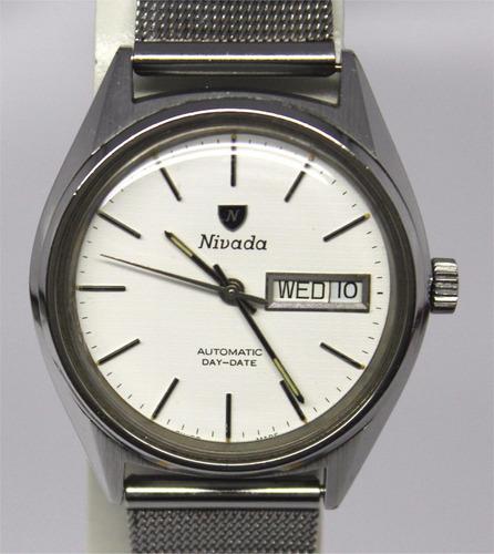 reloj suizo nivada f2 vintage daydate automatico eta 2879