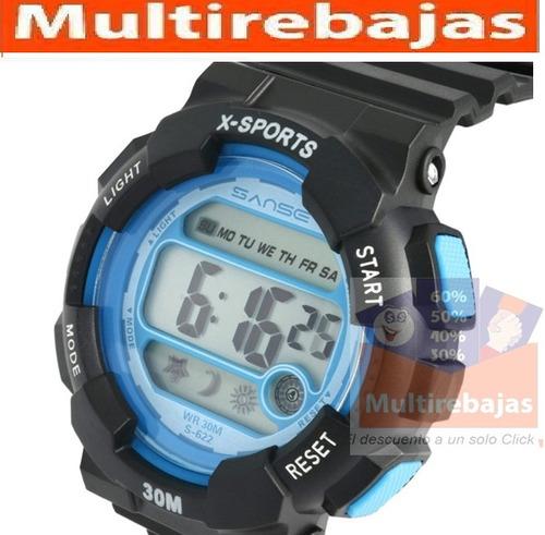 reloj sumergible alarma cronometro led fecha temperatura ful
