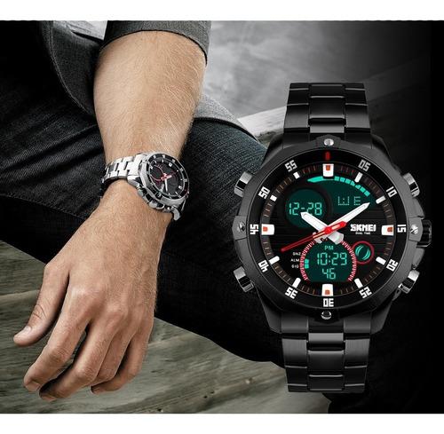 reloj sumergible deportivo skmei 1146 luz cronometro cuotas