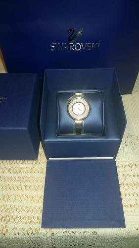 reloj swarovski crystalline pure plateado