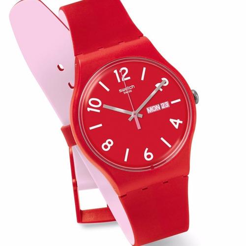 reloj swatch backup red suor705 | original envío gratis
