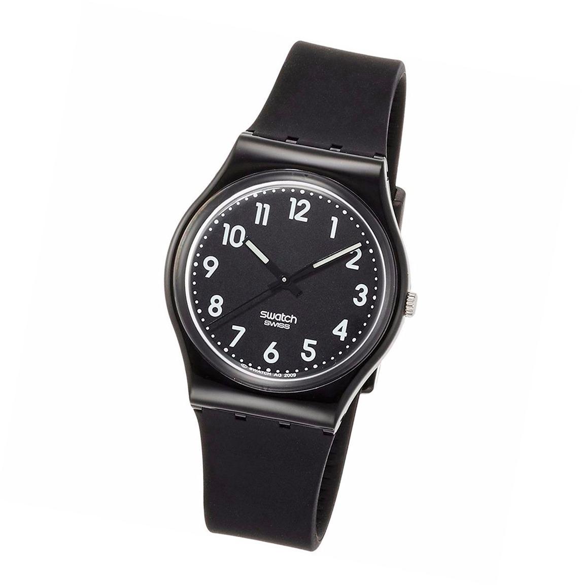 Wr Malla Gb247t Black Suit Plastica Charol Reloj Swatch 30m O8PNkXn0w