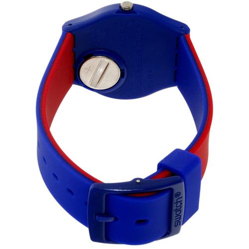 reloj swatch blue loop gs148 unisex   original envío gratis