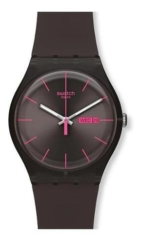 reloj swatch brown rebel suoc700 agente oficial