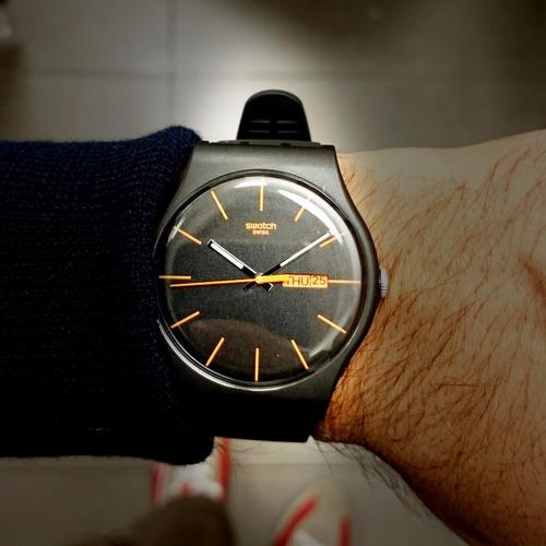 reloj swatch dark rebel suob704 | original envío gratis