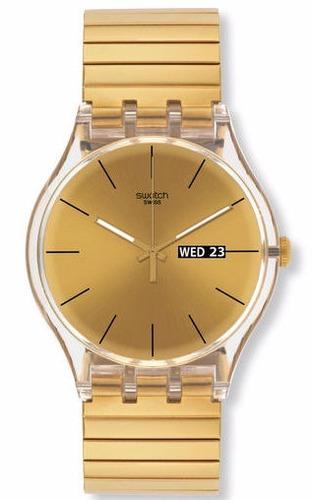 reloj swatch dazzling light suok702 originalgarantia oficial