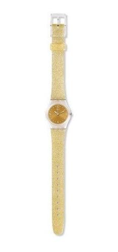 reloj swatch de dama glitter dorado mod. lk382