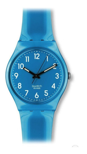 reloj swatch de plástico color turquesa gs138