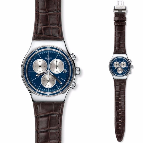 reloj swatch destination london blue gent yvs410c