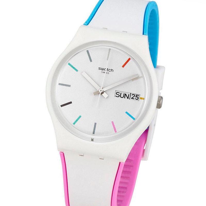 30m Wr Suizo Silicona Reloj Swatch Edgyline Gw708 rhdsCQt