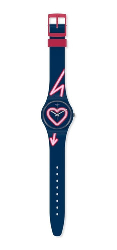 reloj swatch flash of love gn267 - 34 mm - mujer