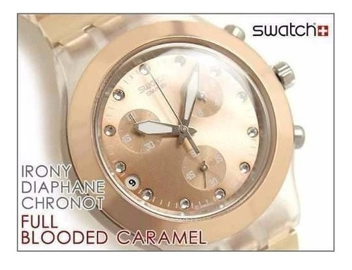 reloj swatch fool-blooded caramel svck4047ag
