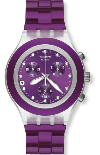 reloj swatch full blooded blueberry svck4048ag | original