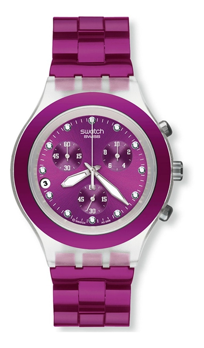 Swarovski Blooded Swatch Full Svck4048ag Reloj Blueberry VLSUzGqMp