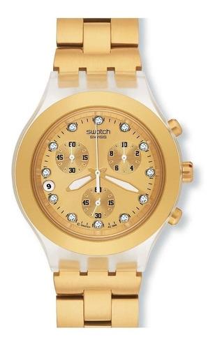 reloj swatch full blooded dorado svck4032g | original