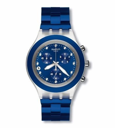 reloj swatch full blooded navy svck4055ag - envio gratis