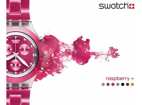 reloj swatch full blooded raspberry svck4050ag envío gratis