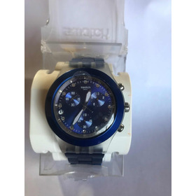 Reloj Swatch Full Blooded Swarovsky Azul