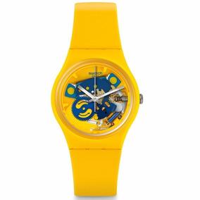 Cuotas Swatch Unisex Boca Gj136 Selfie Amarillo Reloj XwkO8nP0