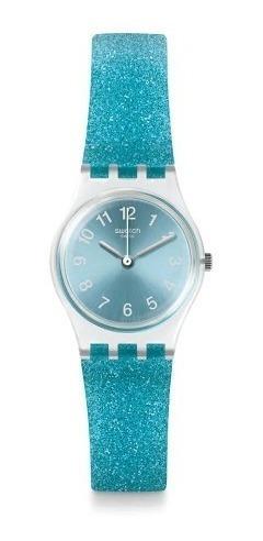 reloj swatch glitter celeste lk392 | original envío gratis