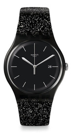 Reloj Mujer ModSuob403 Glitter Fecha Negro Con Swatch De uc3TlK1F5J