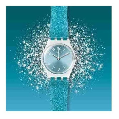 reloj swatch glitterceleste lk392 - 25 mm