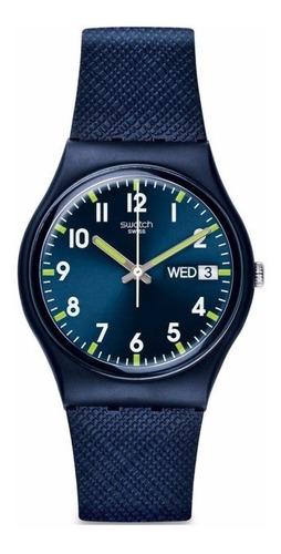 reloj swatch gn718 sir blue pr cts