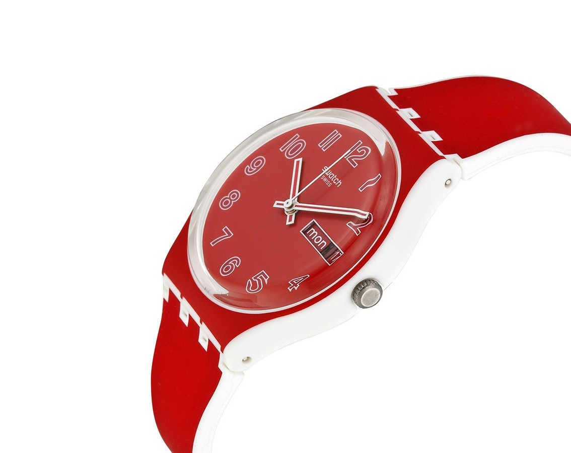 Poppy Reloj Gw705 Rhdtcqsx Field150 En Swatch Dama Rojo Plastico 000 myw0ONv8n