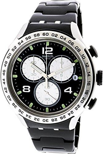 Esfera Aluminio Swatch Night Homb Irony Attack Reloj Negra TKcF1lJ