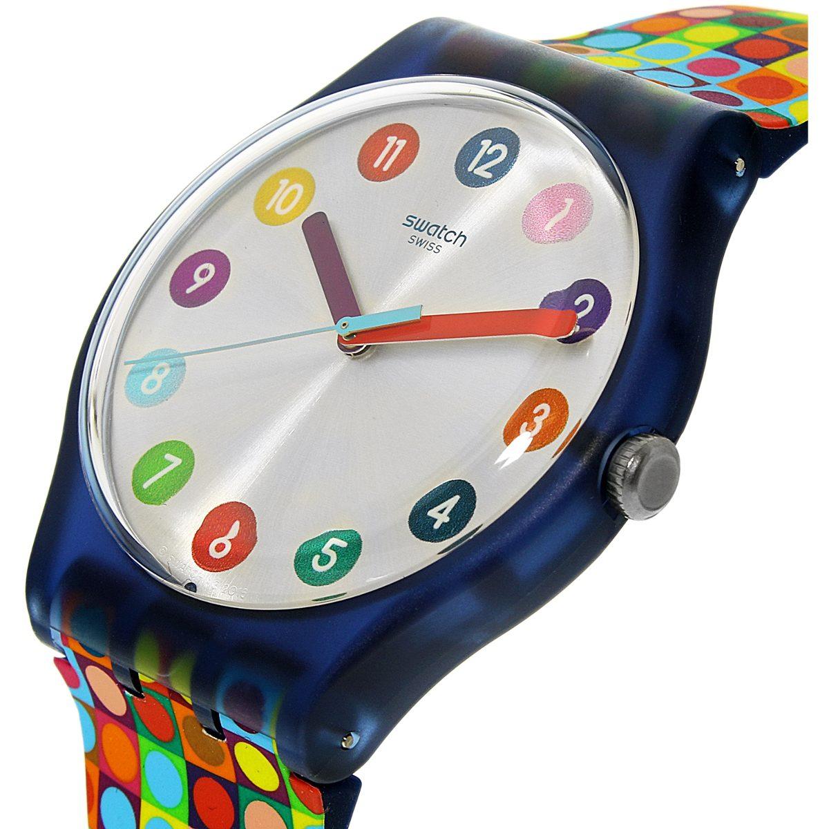 Hombre Correa De Swatch Suom108 Multicolor Negro Para Reloj ZTXuPiOwk