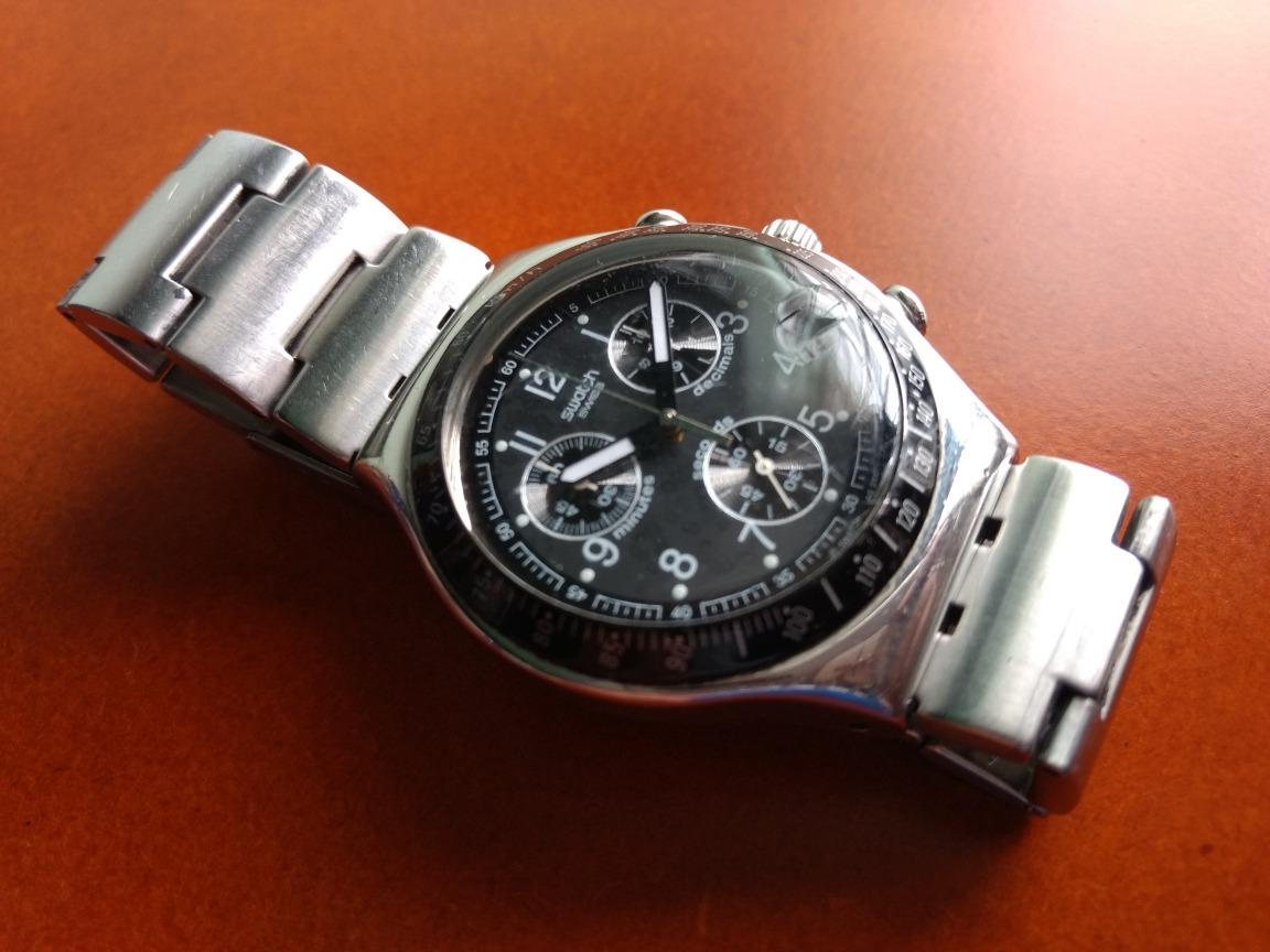 7a5cc3c29137 Reloj Swatch Irony Cronografo Negro -   227.300 en Mercado Libre