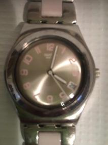 Reloj Acero En Hermoso Extensible Pedreria De Con Relojes Swatch bv7I6mfgYy