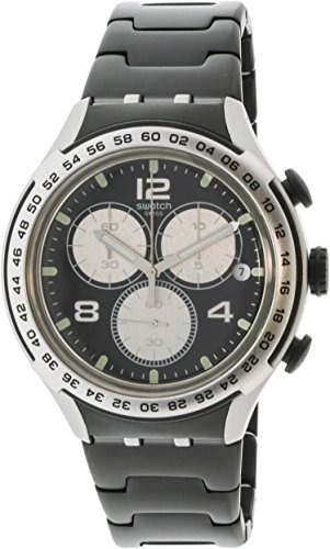 Reloj Night Attack Negra Esfera Irony Swatch Aluminio De 34RA5Lj