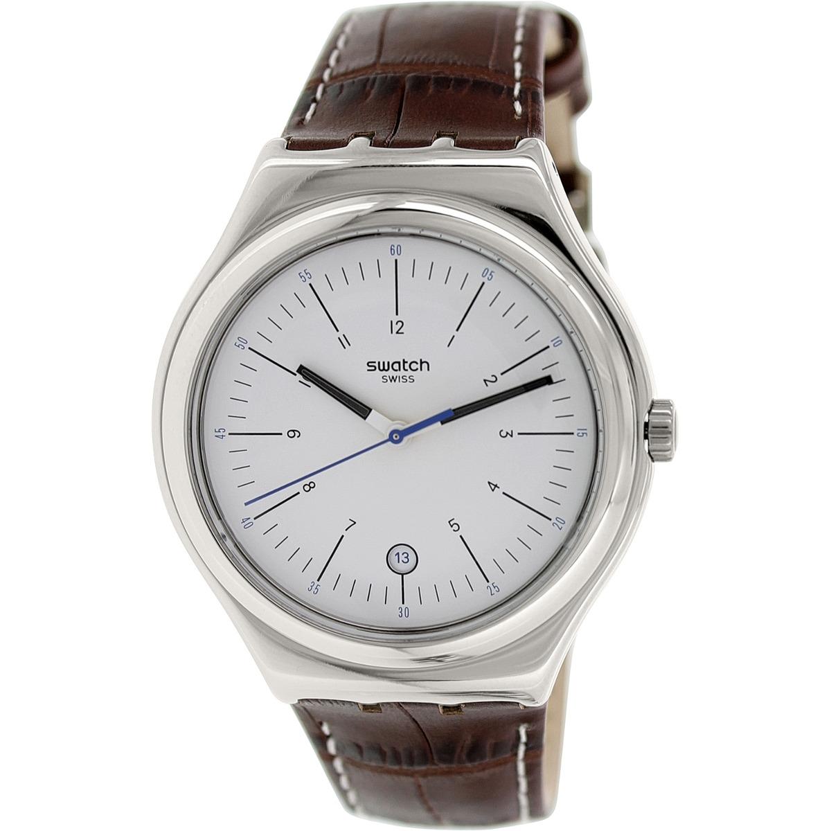 Reloj Swatch Irony Suizo Cuero Phombre Yws401 Cuero