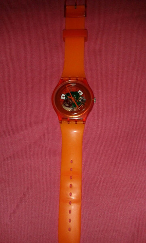 reloj swatch lacquered orange suow100. europeo 100% original