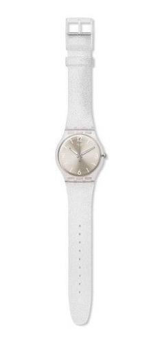 reloj swatch mirrormellow de plástico plateado suok112