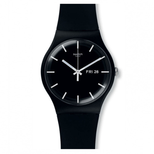 reloj swatch mono black suob720 unisex   envío gratis