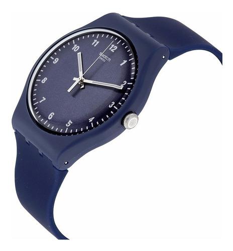 reloj swatch mono blue unisex suon116   envío gratis