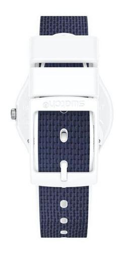 reloj swatch mujer azul blanc navy light gw715 silicona tela