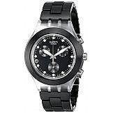 reloj swatch mujer color negro aluminio