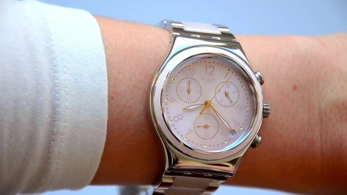 reloj swatch mujer dreamnight rose ycs588g