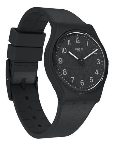 reloj swatch mujer gb326 lico-gum urbaholic silicona negro