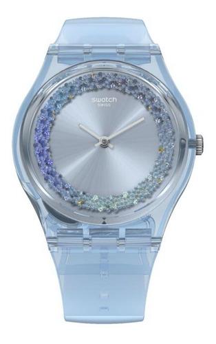 reloj swatch mujer gl122 azzura gent celeste silicona