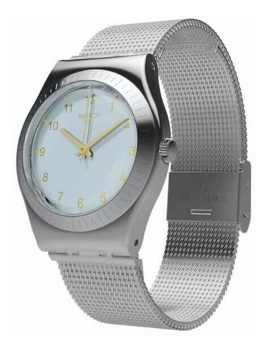 reloj swatch mujer plateado quiteness yls187m acero wr 30