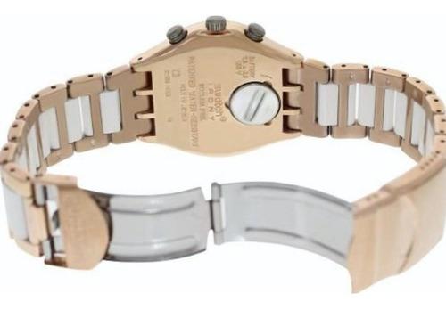 reloj swatch mujer rose dreawhite irony ycg406g malla acero