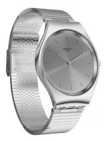 reloj swatch mujer skin skinpole syxs103gg malla metal wr 30