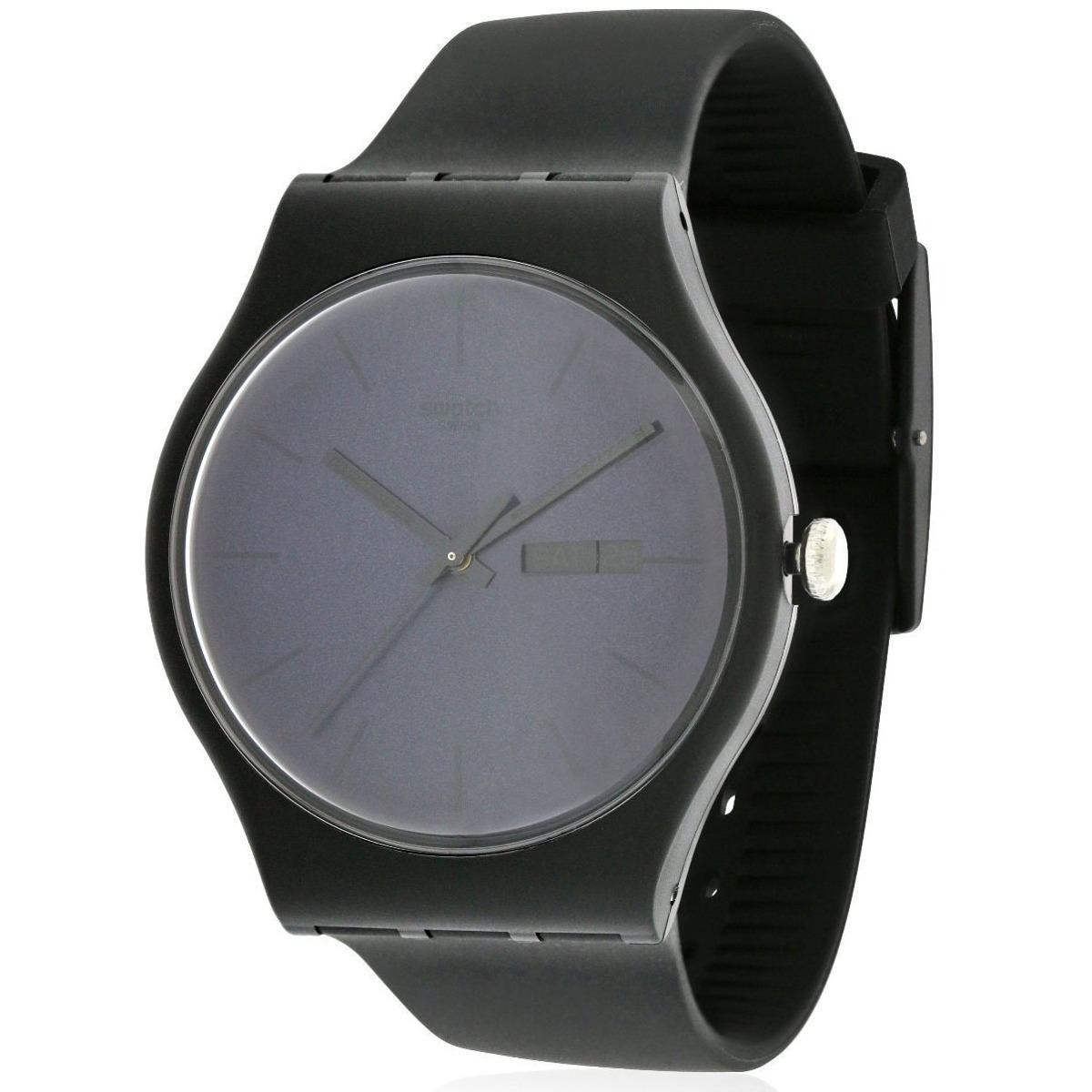 Reloj Para Negro Hombre Suob702 Swatch 5R3A4qjL