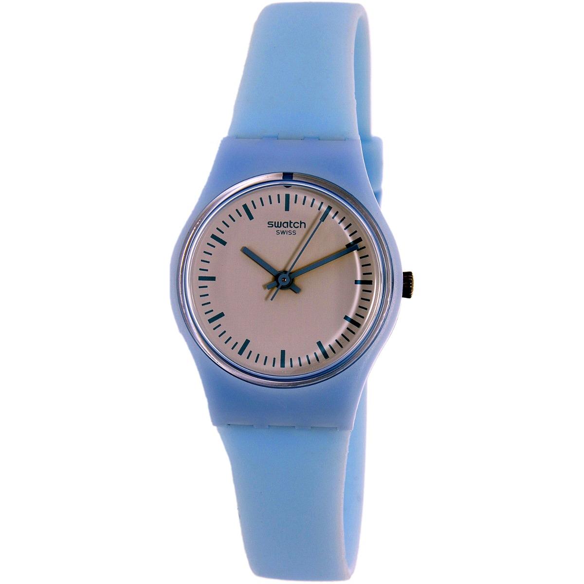 Suizo228 Goma Swatch Azul Reloj Correa 550 De Para Mujer Ll119 80XZnONwPk